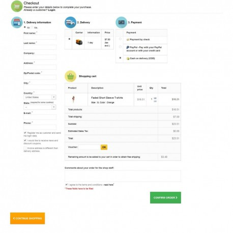EasyPay One Page Checkout Modul - New look